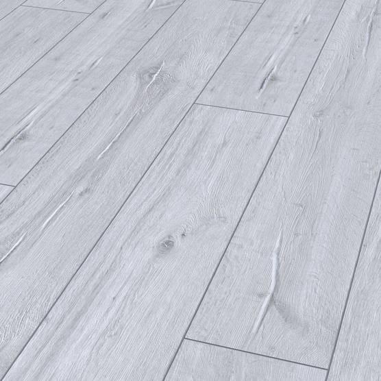 Laminat grau weiß  Eastside 932 Langdiele 9058 - Kerneiche weiß V4 SP - Holzböden ...