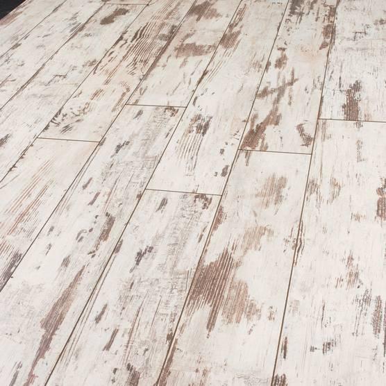 Laminat weiß  Skyline 532 Breitdiele 5389 - Lofteiche weiß V4 AS - Holzböden ...